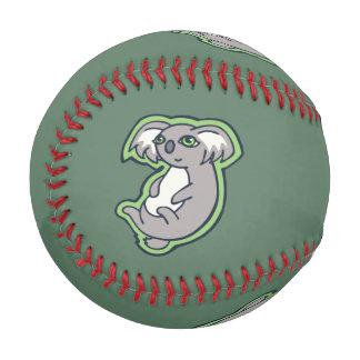 Relaxing Smile Gray Koala Green Drawing Design Baseball