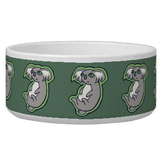 Relaxing Smile Gray Koala Green Drawing Design Bowl