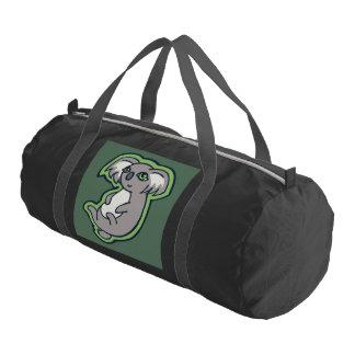 Relaxing Smile Gray Koala Green Drawing Design Duffle Bag