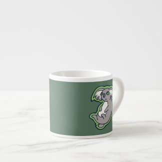 Relaxing Smile Gray Koala Green Drawing Design Espresso Cup