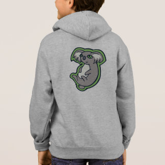 Relaxing Smile Gray Koala Green Drawing Design Hoodie