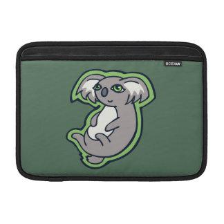 Relaxing Smile Gray Koala Green Drawing Design MacBook Air Sleeves