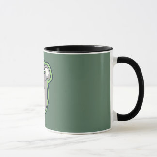 Relaxing Smile Gray Koala Green Drawing Design Mug