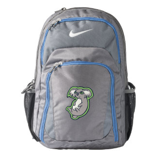 Relaxing Smile Gray Koala Green Drawing Design Nike Backpack