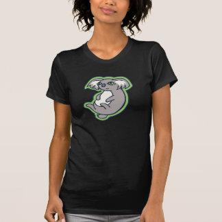 Relaxing Smile Gray Koala Green Drawing Design T-Shirt