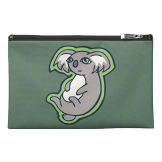 Relaxing Smile Gray Koala Green Drawing Design Travel Accessory Bag