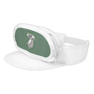 Relaxing Smile Gray Koala Green Drawing Design Visor