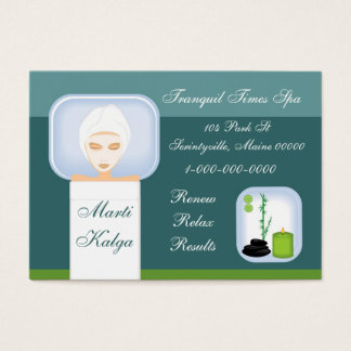 Relaxing Spa Business Card