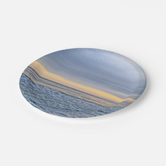 Relaxing Sunset by the Sea 7 Inch Paper Plate