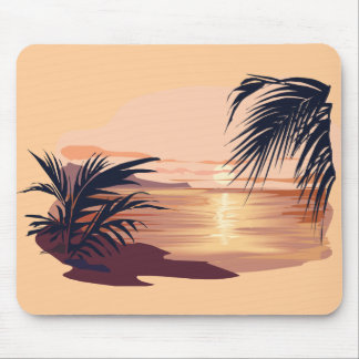 Relaxing sunset mouse pad