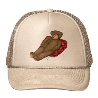 Relaxing Teddy Bear Trucker Hat