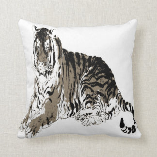Relaxing Tiger American MoJo Pillow