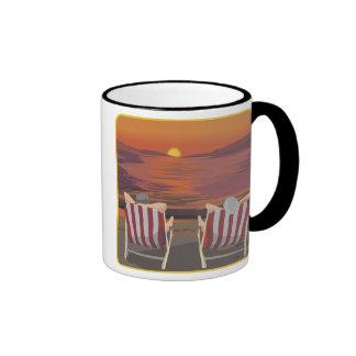 Relaxing Tropical Honeymoon Ringer Coffee Mug