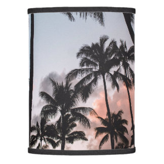 Relaxing Tropical Palm Trees Sunset Beach Lamp Shade