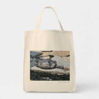 relaxing turtle tote bags
