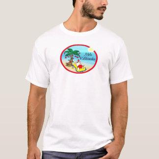 Relaxing under Palm Santa hawaiin Christmas T-Shirt