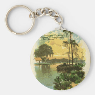 Relaxing Vintage Beach Keychain