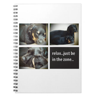Relaxing with the dogs spiral notebook