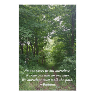 Relaxing Woodland Path Inspirational Poster