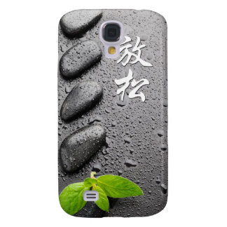 Relaxing Zen Stones with mint leaves Galaxy S4 Cover
