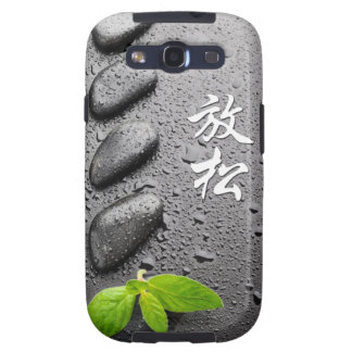 Relaxing Zen Stones with mint leaves Galaxy SIII Case