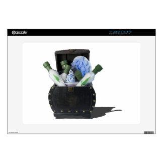 RelaxingBathItemsChest070315 Decal For Laptop