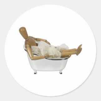 RelaxingBathtub120709 copy Classic Round Sticker