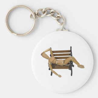 RelaxingBench112609 copy Basic Round Button Keychain
