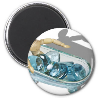 RelaxingInWater092110 2 Inch Round Magnet