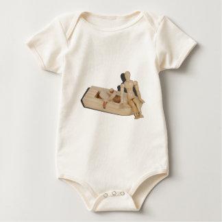 RelaxingOnRubberbankBoat042014.png Baby Bodysuit