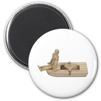 RelaxingPowerBoat020511 2 Inch Round Magnet
