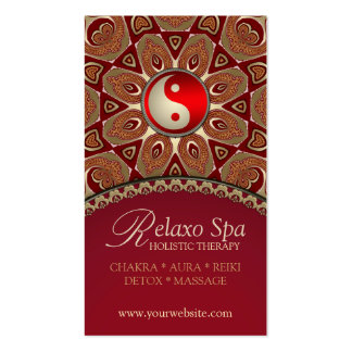 Relaxo Spa YinYang New Age Business Cards