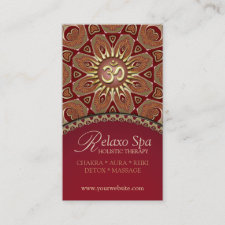Relaxo Spa Yoga Om New Age Business Cards
