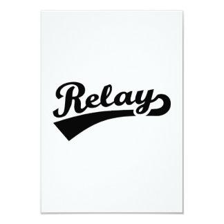 Relay 3.5x5 Paper Invitation Card