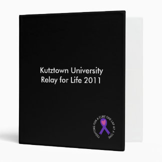 Relay for Life 2011 Binder
