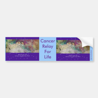 Relay For Life-Believe You Can - Cancer Cure Car Bumper Sticker