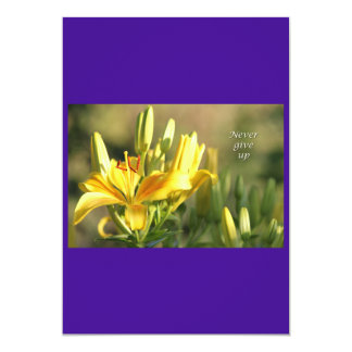 Relay For Life-Never Give Up Gifts-Cancer Survivor Card