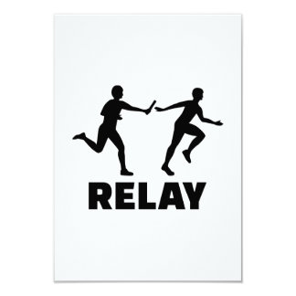 Relay race 3.5x5 paper invitation card