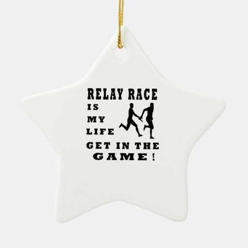 Relay Race Is My Life Christmas Tree Ornament