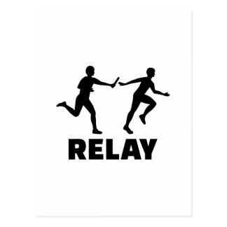 Relay race postcard