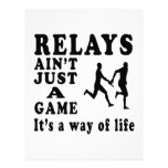 Relays Ain't Just A Game It's A Way Of Life Letterhead Template