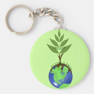 ReLeaf Plant A Tree Basic Round Button Keychain