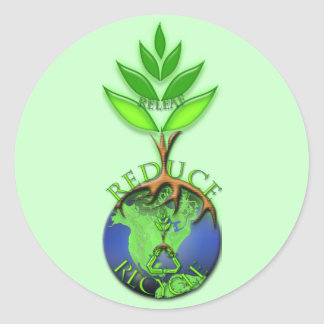 RELeaf ReDuce ReCycle Classic Round Sticker