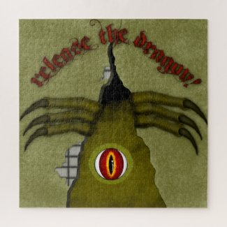 Release The Dragon! Digital Art Jigsaw Puzzle
