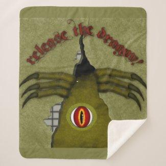 Release The Dragon! Digital Art Sherpa Blanket