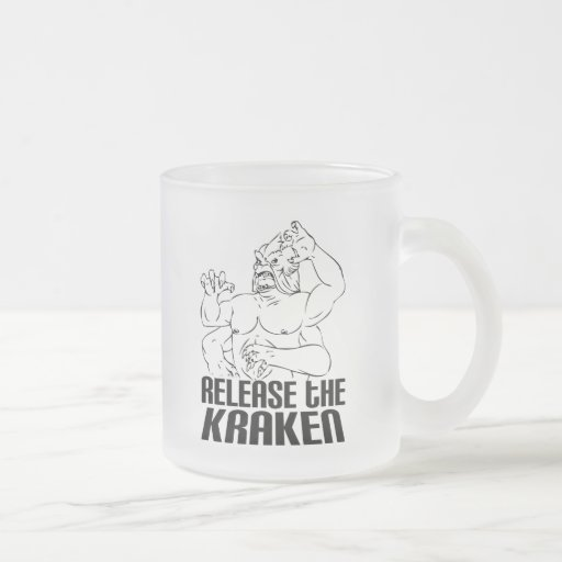 Release the Kraken 10 Oz Frosted Glass Coffee Mug