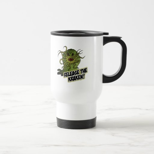 release the kraken 15 oz stainless steel travel mug