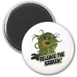 release the kraken 2 inch round magnet