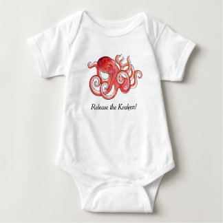 Release The Kraken Cute Little Octopus Baby Suit Baby Bodysuit