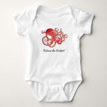 Toddler & Baby themed Release The Kraken Cute Little Octopus Baby Suit Baby Bodysuit